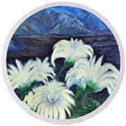 Lillies Round Beach Towel