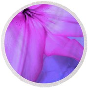 Lily - Digital Art Round Beach Towel