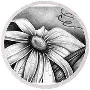 Lily Flower Round Beach Towel