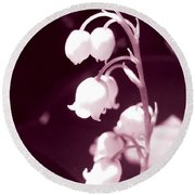 Lily Of The Valley Round Beach Towel by Eva Csilla Horvath