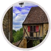 Limeuil En Perigord Round Beach Towel by Dany Lison