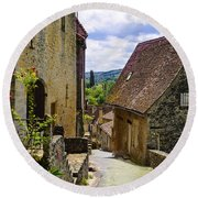 Round Beach Towel featuring the photograph Limeuil En Perigord - France by Dany Lison