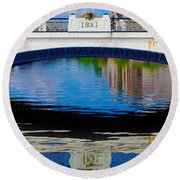 Sean Heuston Dublin Bridge Round Beach Towel
