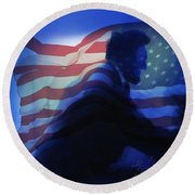 Lincoln Round Beach Towel by Kevin Caudill