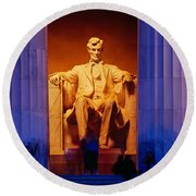 Lincoln Memorial, Washington Dc Round Beach Towel