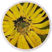 Linda's Arizona Sunflower 2 Round Beach Towel