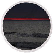 Line Of Fire Round Beach Towel
