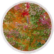 Liquid Amber Magic Round Beach Towel by Michele Myers
