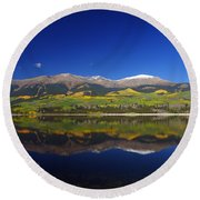 Liquid Mirror Round Beach Towel