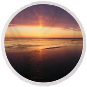 Liquid Sunrise Round Beach Towel