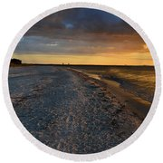 Listen To The Whispers Of Nature Round Beach Towel