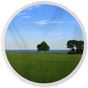 Round Beach Towel featuring the photograph Listening To The Breeze  by Neal Eslinger