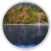 Little Beaver Lake Round Beach Towel