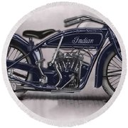 Little Blue Indian 2 Round Beach Towel