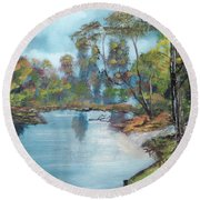 Little Brook Round Beach Towel