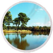Round Beach Towel featuring the photograph Little Creek by Angela DeFrias