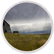 Little Remains Round Beach Towel by Bob Christopher