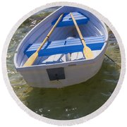 Little Rowboat Round Beach Towel