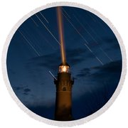 Little Sable Lighthouse Round Beach Towel