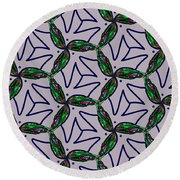 Round Beach Towel featuring the digital art Little Something For The Nest by Elizabeth McTaggart