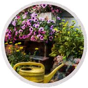 Little Swiss Garden Round Beach Towel