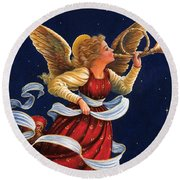 Little Town Of Bethlehem Round Beach Towel