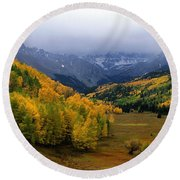 Little Meadow Of The Sublime Round Beach Towel