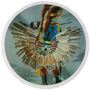 Little Warrior Round Beach Towel