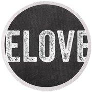 Live Love Eat Round Beach Towel