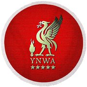 Liverpool You'll Never Walk Alone Round Beach Towel