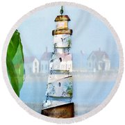 Living By The Sea - Pacific Ocean Round Beach Towel