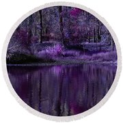 Living In A Purple Dream Round Beach Towel