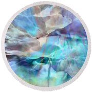 Living Waters - Abstract Art Round Beach Towel by Jaison Cianelli