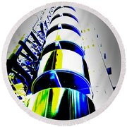 Lloyd's Building London Art Round Beach Towel