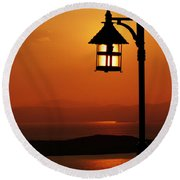Locked Sun Round Beach Towel