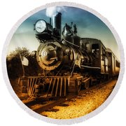 Locomotive Number 4 Round Beach Towel by Bob Orsillo