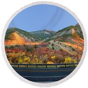 Logan Canyon Round Beach Towel