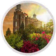 Logan Temple Garden Round Beach Towel by Dustin  LeFevre