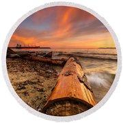 Login To Nature Round Beach Towel by Eti Reid