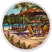 Lola's In Costa Rica Round Beach Towel