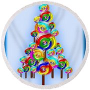 Lollipop Tree Round Beach Towel