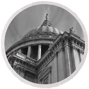 London St Pauls Cathedral Round Beach Towel