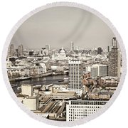 London Cityscape Round Beach Towel