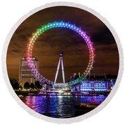 London Eye Pride Round Beach Towel by Matt Malloy