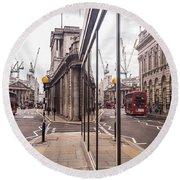 London Reflected Round Beach Towel by Matt Malloy