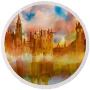 London Rising Round Beach Towel