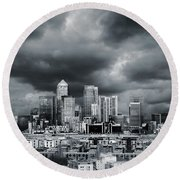 London Skyline 7 Round Beach Towel