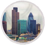 London Skyline Round Beach Towel