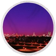 London View 1 Round Beach Towel