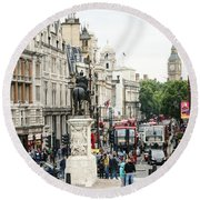 London Whitehall Round Beach Towel